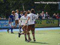image: Tilburg hockeyheren scoren tegen Kampong H1