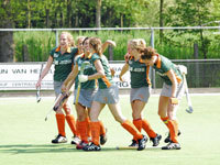 Were Di hockey dames thuis tegen Rood Wit