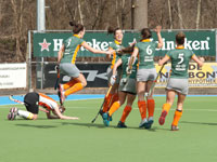 Hockey dames Were Di D1 winnen van HIC D1