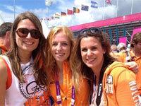 Margot van Geffen staat in Olympische hockey Finale