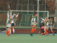 Dames Were Di D1 verslaan HC Tilburg D1 in derby (3-2)